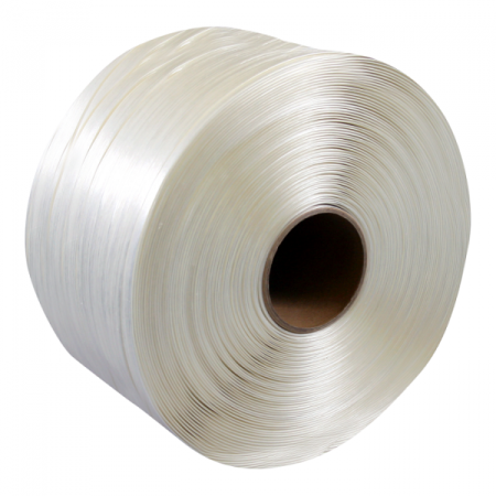 Polyester omsnoeringsband wit 13mm x 1100m