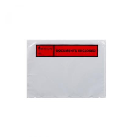 Paklijstenveloppen A6 165x122mm Documents Enclosed