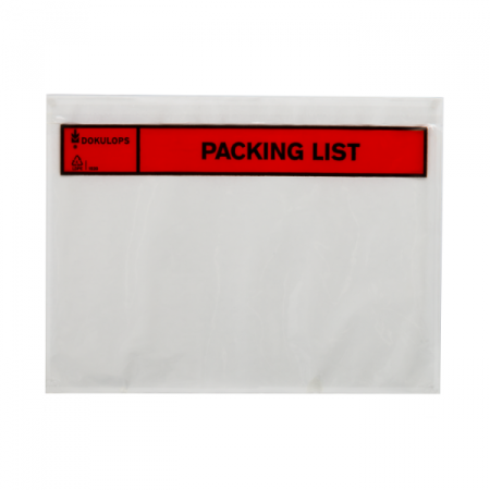 Paklijstenveloppen A5 225x165mm Packing List